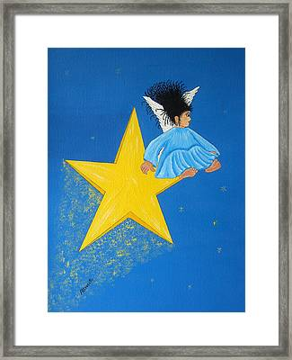 Ride A Shooting Star Framed Print by Pamela Allegretto