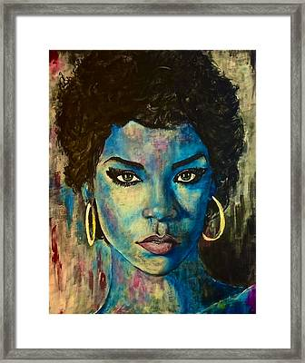 Rihanna Framed Print by Christopher Brown