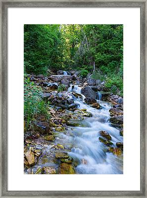 River In Bruce Peninsula Ontario Canada Framed Print by Marek Poplawski