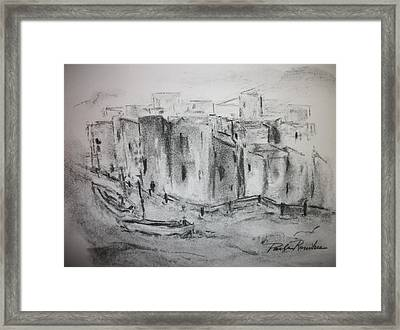 Riverscape Framed Print by Paula Rountree Bischoff