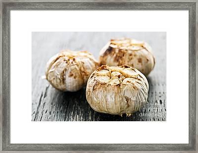 Roasted Garlic Bulbs Framed Print by Elena Elisseeva