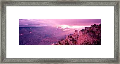 Rock Formations In A National Park Framed Print by Panoramic Images