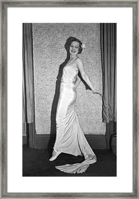 Romanian Princess Irene Bogdan Framed Print by Underwood Archives