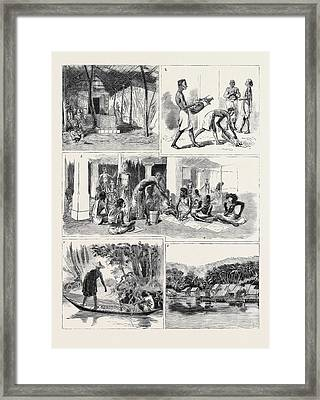 Round The World Yachting In The Ceylon Framed Print by English School
