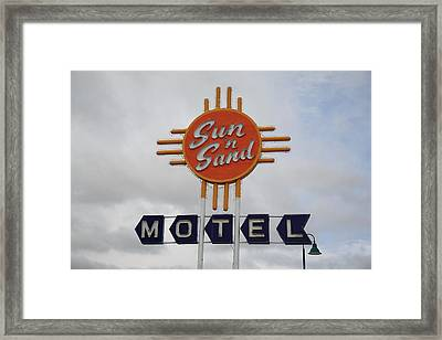 Route 66 - Santa Rosa New Mexico Framed Print by Frank Romeo