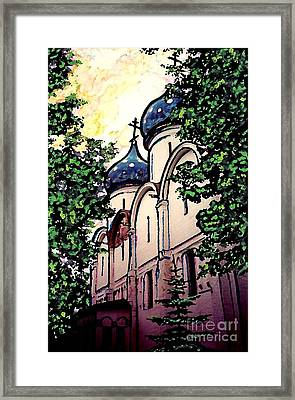 Russian Church Framed Print by Sarah Loft