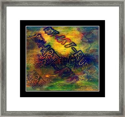 Rust-art 04 Framed Print by Gertrude Scheffler