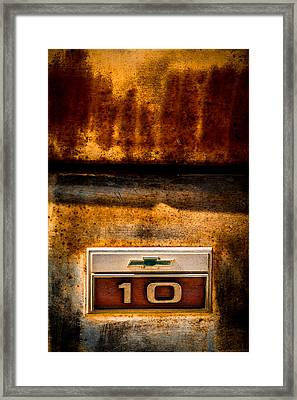 Rusted C10 Framed Print by Ron Pate