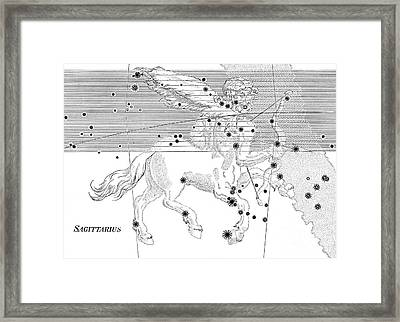 Sagittarius Constellation Zodiac Sign Framed Print by Science Source