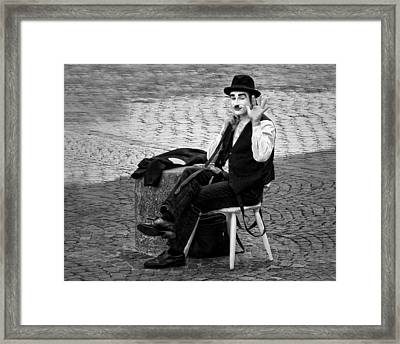 2 - Salut - French Mime Framed Print by Nikolyn McDonald