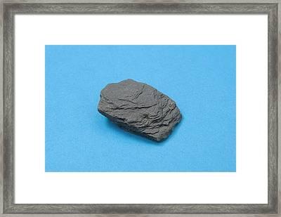 Sample Of Shale Framed Print by Trevor Clifford Photography