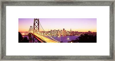 San Francisco Ca Framed Print by Panoramic Images