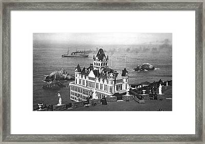 San Francisco Cliff House Framed Print by Underwood Archives
