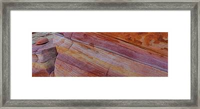 Sandstone Patterns, Valley Of Fire Framed Print by Panoramic Images