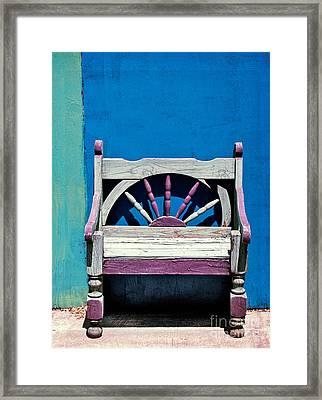 Santa Fe Chair Framed Print by Elena Nosyreva