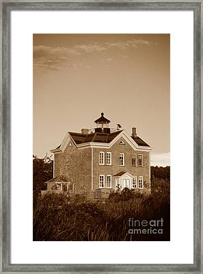 Saugerties Lighthouse Framed Print by Skip Willits