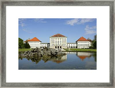 Schloss Nymphenburg In Muenchen, Castle Framed Print by Tips Images