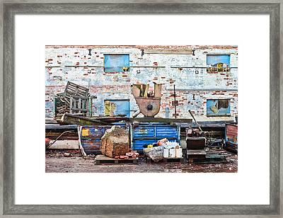 Scrap Yard Framed Print by Tom Gowanlock
