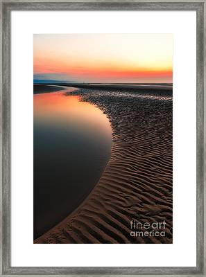 Seascape Sunset Framed Print by Adrian Evans