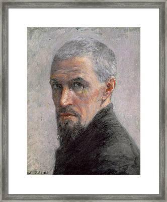 Self Portrait Framed Print by Gustave Caillebotte