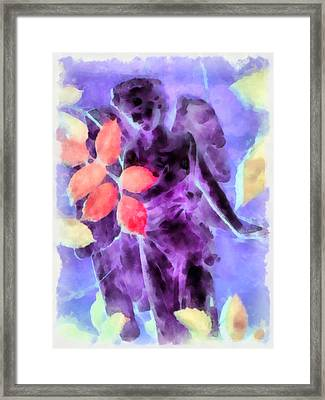 Send Me An Angel 3 Framed Print by Angelina Vick