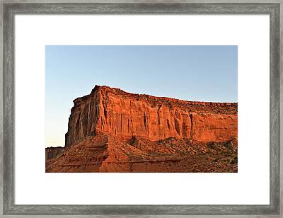Sentinel Mesa Monument Valley Framed Print by Christine Till