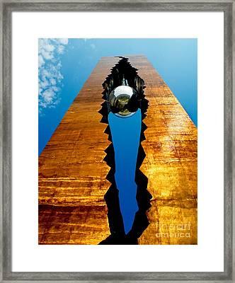 September 11th Tear Drop Framed Print by Nick Zelinsky