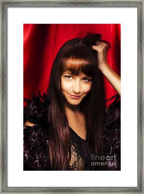 Sexy Stage Performer Framed Print by Jorgo Photography - Wall Art Gallery