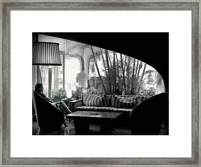 She Waits Framed Print by Karen Wiles