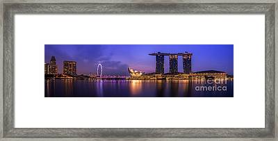 Singapore City Framed Print by Anek Suwannaphoom