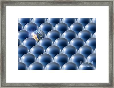 Single Earth, Conceptual Artwork Framed Print by Detlev van Ravenswaay