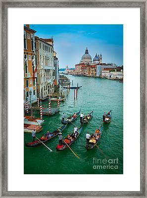Six Gondolas Framed Print by Inge Johnsson