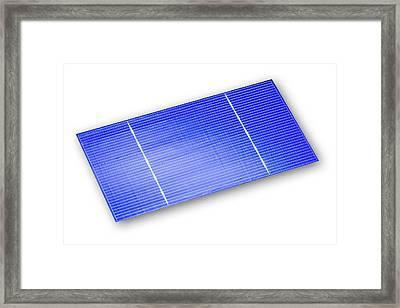 Solar Cell Framed Print by Alfred Pasieka