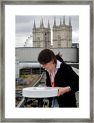 Solar Radiation Monitoring Framed Print by Public Health England