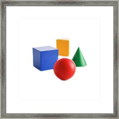Solid Shapes Framed Print by Science Photo Library