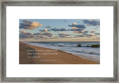 Solitude Framed Print by Bill Wakeley