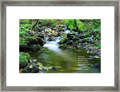 Sometimes Framed Print by Jeff Swan