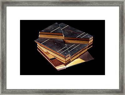 Sopwith Model Vi: Mineral Veins Intersect Framed Print by Natural History Museum, London