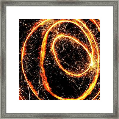 Sparkler Framed Print by Science Photo Library