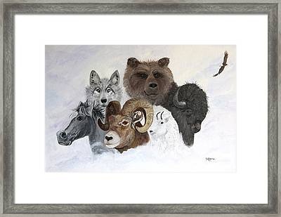 Spirit Totems Framed Print by Judy M Watts-Rohanna
