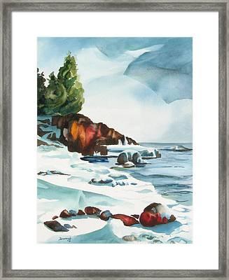 Splitrock Cove Framed Print by Steve Brumbaugh