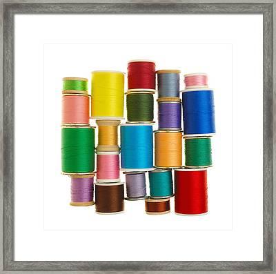 Spools Of Thread Framed Print by Jim Hughes