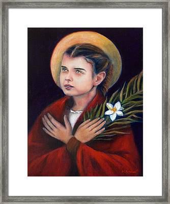 St. Maria Goretti Framed Print by Sharon Clossick