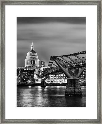 St Pauls And The Millennium Bridge Framed Print by Ian Hufton