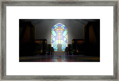 Stained Glass Window Church Framed Print by Allan Swart