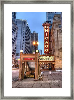State Street In Chicago Framed Print by Twenty Two North Photography