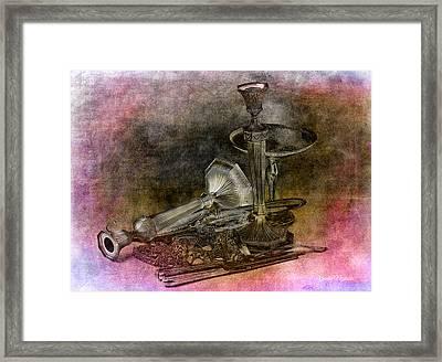 Sterling Silver Scrap Framed Print by Gunter Nezhoda