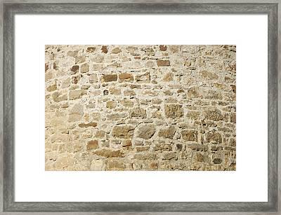 Stone Wall Framed Print by Matthias Hauser