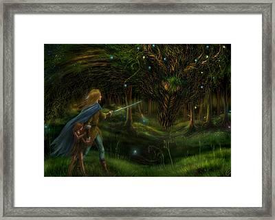 Strange Encounter Framed Print by Katerina Romanova