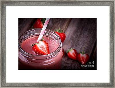 Strawberry Smoothie Framed Print by Jane Rix